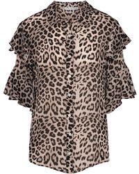 Lily & Lionel | Frankie Big Cat Print Shirt | Lyst