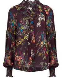 Parker - Charlotte Floral Blouse In Alexia - Lyst