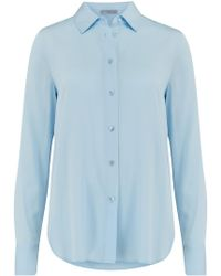 Vince - Slim Fitted Blouse In Glacier - Lyst