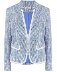 Helene Berman - Notch Collar Jacket In Light Blue - Lyst