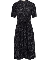 Rebecca Taylor - Sleeveless Hummingbird Dress In Black - Lyst