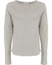 American Vintage - Sonoma Sweatshirt In Ecru Melange - Lyst