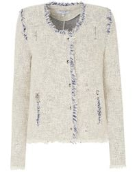 IRO - Agnette Jacket In White And Blue - Lyst
