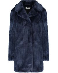 Essentiel - Obechian Faux Fur Coat In Night Sky - Lyst