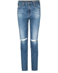 AG Jeans - Isabelle Straight Jean In 13 Years Saltwater - Lyst