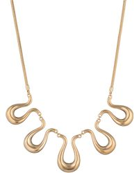 Trina Turk - Gold Rush Wavy Necklace - Lyst