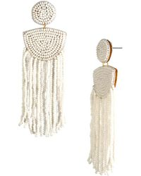 Trina Turk - Pacific Wave Beaded Fringe Earring - Lyst