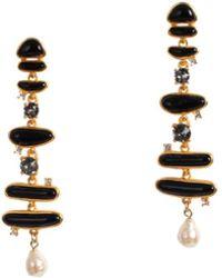 Trina Turk - Gold Drop Post Earring - Lyst