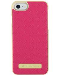 Trina Turk - Iphone 7 - Basket Weave Case Fuchsia - Lyst