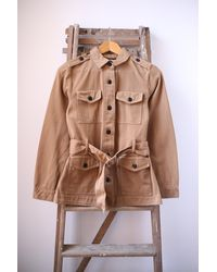 Scotch & Soda Khaki Safari Jacket - Multicolour