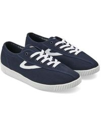 Midnight With White Trim Nylite Trainers Blue