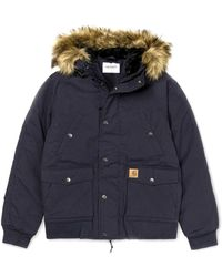 Carhartt - Marine Polyester And Cotton Trapper Jacket - Lyst