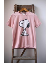 Chinti & Parker Pink Snoopy T Shirt