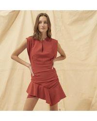 Ba&sh - Vestido Jess De Terracota - Lyst