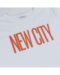 Saturdays NYC White New City Tee