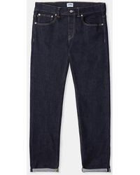 9ddc0d34f89 Edwin - Rinsed Cotton Listed Selvage Ed 80 Slim Tapered Jeans - Lyst