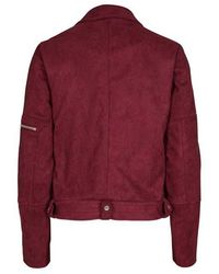 0fcf633c Obey Varsity Jacket in Burgundy in Red - Lyst