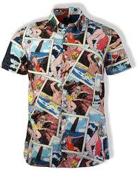 Edwin - Playa Print Nimes Short-sleeved Shirt - Lyst