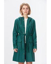 Rains Dark Teal Curve Jacket