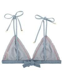 Love Stories Denim Bikini Top - Blue
