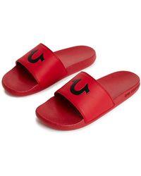 219a5b2bedc9 Lyst - Men s True Religion Leather sandals On Sale