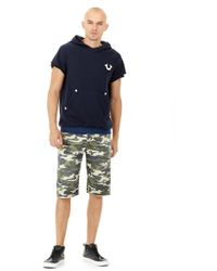 True Religion - Camo Ricky Straight Short - Lyst