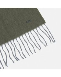 Turnbull & Asser - Monogrammed Cardamom Green Pure Cashmere Scarf - Lyst
