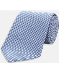 Turnbull & Asser - Seven-fold Royal Blue Houndstooth Silk Tie - Lyst