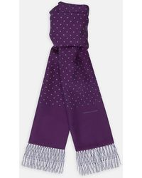 Turnbull & Asser - Purple And White Spotted Silk Scarf - Lyst