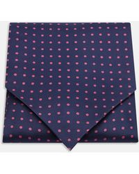 Turnbull & Asser - Navy And Pink Spot Silk Ascot Tie - Lyst
