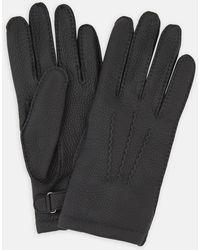 Turnbull & Asser - Black Kirkdale Leather Gloves - Lyst