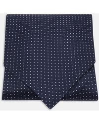 Turnbull & Asser - Navy And White Small Spot Silk Ascot Tie - Lyst