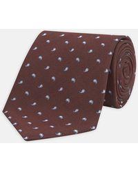 Turnbull & Asser - Burgundy Spaced Paisley Silk Tie - Lyst