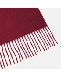 Turnbull & Asser - Monogrammed Bordeaux Pure Cashmere Scarf - Lyst