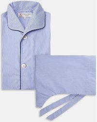 Turnbull & Asser - Blue Bengal Stripe Cotton Pyjama Set - Lyst