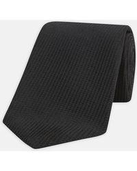 Turnbull & Asser - Seven-fold Black Lace Silk Tie - Lyst