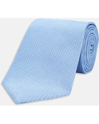 Turnbull & Asser - Sky Blue Lace Silk Tie - Lyst