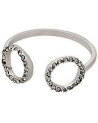 Pilgrim - Open Cuff Silver Plated Ring - Lyst