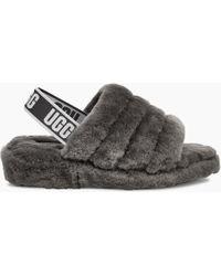 UGG - Ugg Fluff Yeah Genuine Shearling Lined Faux Fur Slipper - Lyst