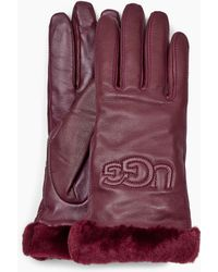 UGG - Classic Leather Logo Glove Classic Leather Logo Glove - Lyst