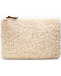 UGG - Women s Large Zip Pouch Sheepskin Handbag - Lyst 3fc2bdce2fa6f