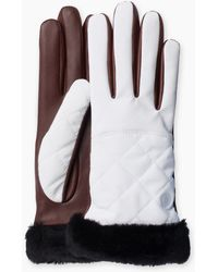 Ugg | Women's Quilted Nylon Smart Glove With Fur | Lyst