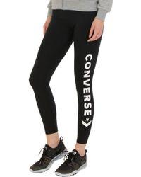 a87d21bff2f5 Converse - Women s Wordmark Chevron Leggings - Lyst