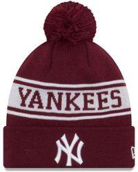 29fcc8b695a KTZ - New York Yankees Seasonal Jake Bobble Beanie Hat - Lyst