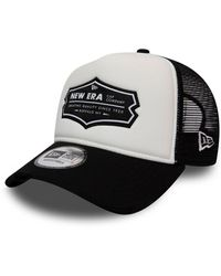 KTZ Ne Patch Mesh Trucker Snapback Baseball Cap - Black