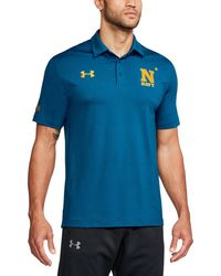 Under Armour - Men's Naval Academy Ua Playoff Vented Polo - Lyst