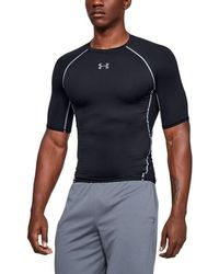 2de6c4bc51 Under Armour Men's Heatgear® Coolswitch Fitted Short Sleeve in Black for Men  - Lyst