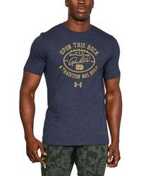 Under Armour   Men's Notre Dame Ua Upon Rock Tri-blend T-shirt   Lyst