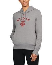 Under Armour - Women's Wisconsin Ua Cropped Hoodie - Lyst