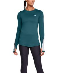 Under Armour - Women's Coldgear® Armour Printed Fitted Crew - Lyst